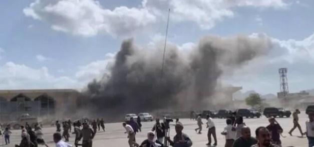 Yemen airport bombing 'kills 20' as harrowing footage captures blast -  Daily Star