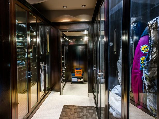 The walk-in wardrobe is one of the defining features of the property