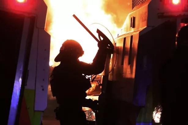 Rioting in Tigers Bay, Belfast