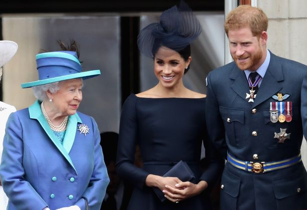 The Queen, Meghan Markle and Prince Harry