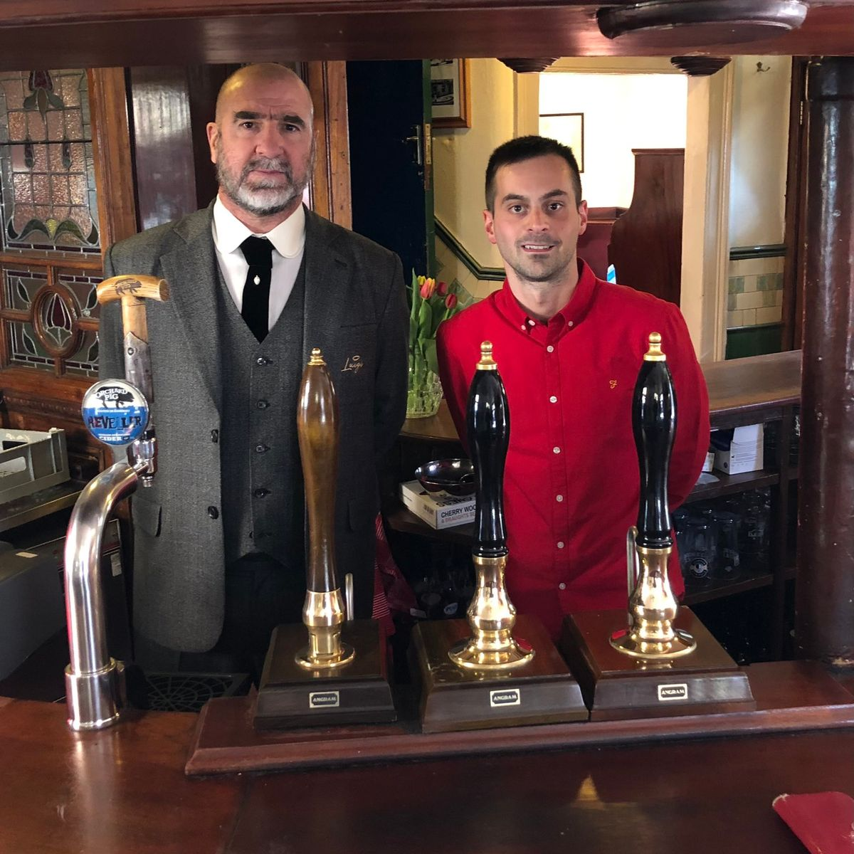 Some celebrity searches aren't as safe as others. Man Utd Legend Eric Cantona Pops Into Famous Manc Pub To Celebrate Reopening Daily Star