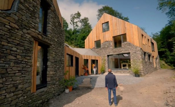 Rob and Ruth spent three and a half years to take down the old farm mill and build their home using the stonework