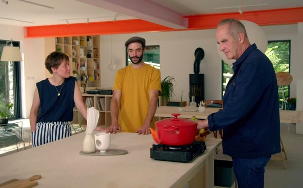 Kevin noticed the couple didn't have a proper kitchen fitted when the house was built