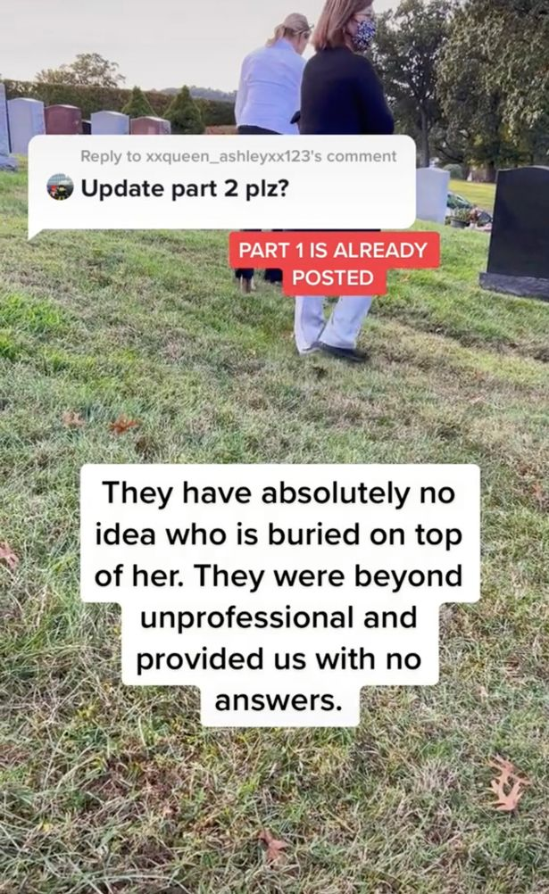 They talked to the cemetery workers and they denied taking payments for the burial mix-up
