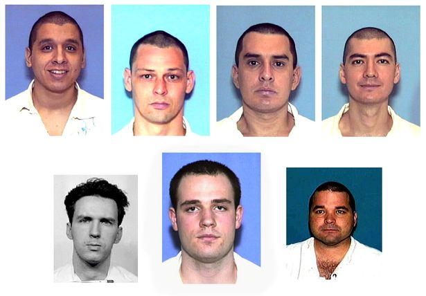 Randy Halprin, bottom centre, was one of seven prisoners who escaped a maximum-security jail in 2000