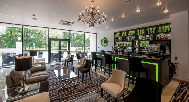 The brand new bar and lobby area of the Park Hotel in Barnstaple
