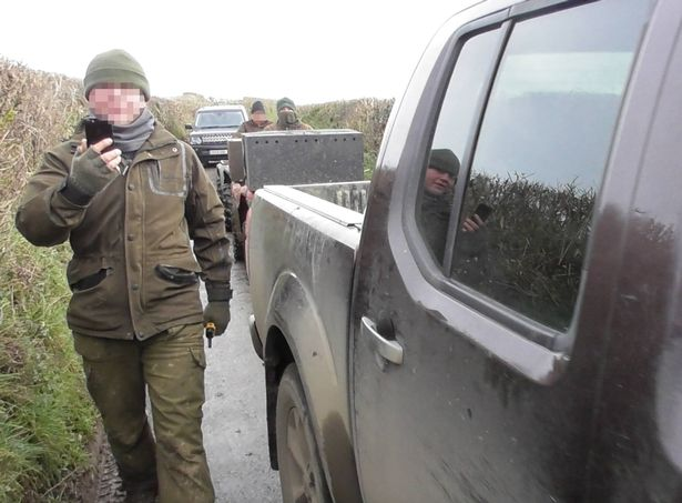 Scenes from the Eggesford hunt near Riddlecombe on Saturday