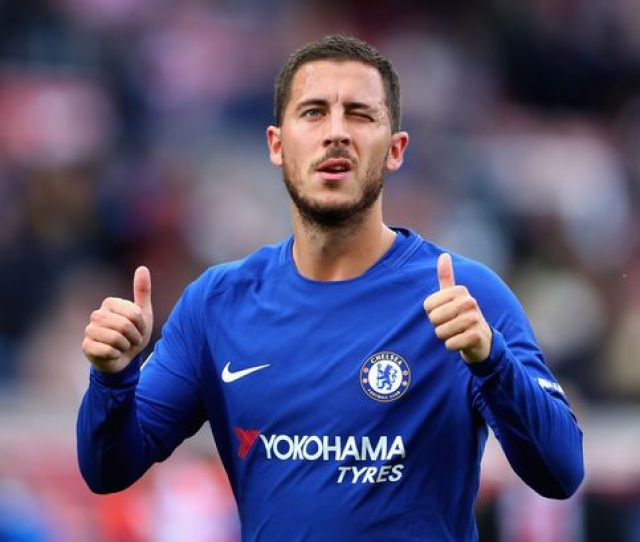 Eden Hazard Of Chelsea Celebrates His Sides   Victory After The Premier League Match Between Stoke City And Chelsea At Bet Stadium On September