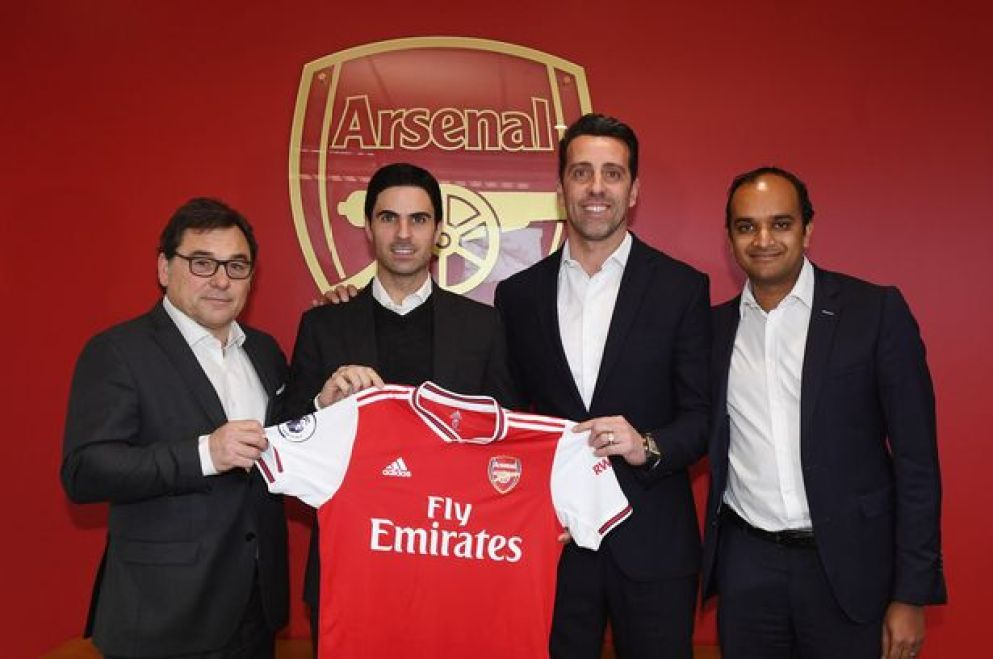 Raul Sanllehi explains why Mikel Arteta appointment is not a risk ...