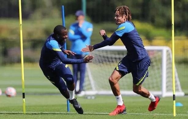 Tanguy Ndombele is still involved in Tottenham training (Photo by Tottenham Hotspur FC/Tottenham Hotspur FC via Getty Images)