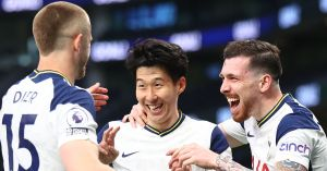 Tottenham fans are responding to a controversial VAR call and Son has sealed all three points for the Spurs