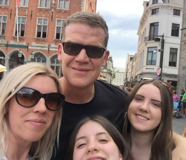 Steve with his wife and two children