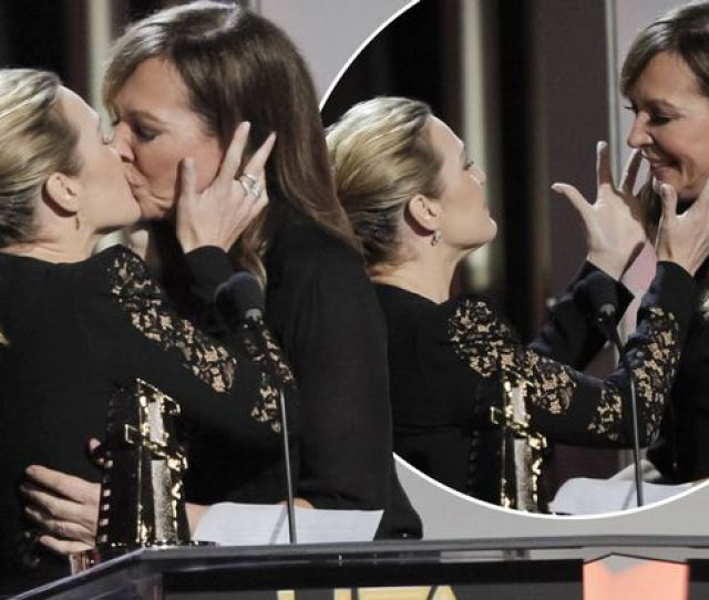 Kate Winsletkate Winslet And Allison Janney Stun Audience With Onstage Kiss At The Hollywood Film Awards