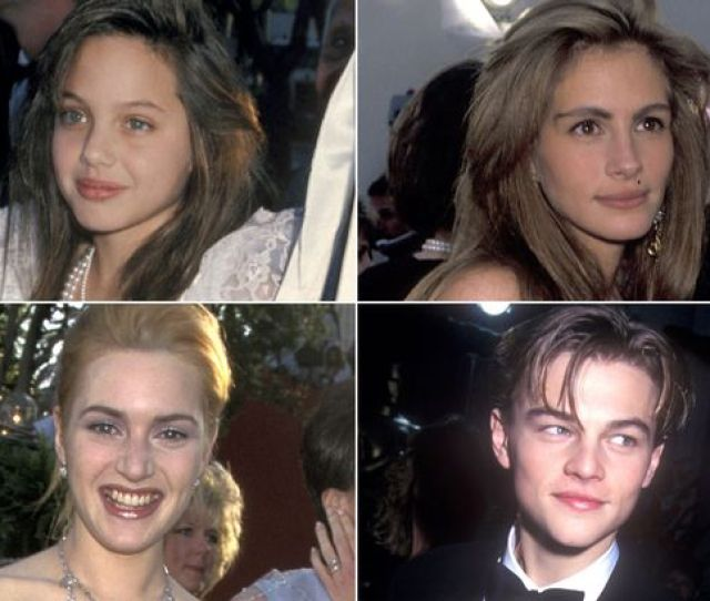 The Oscarsoscars Then And Now Baby Faced Leo Dicaprio Kate Winslet And Meryl Streeps First Time Red Carpet Appearances