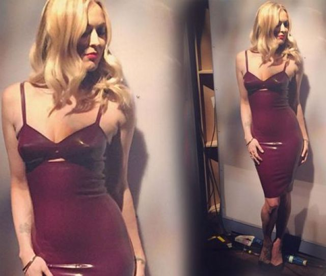 Fearne Cotton Looks Amazing In Pvc Dress