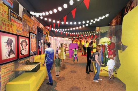An artist impression of Blackpool's Showtown museum