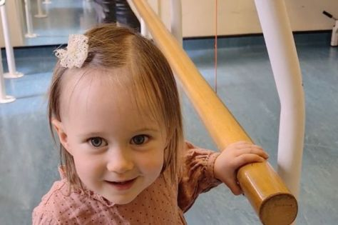 Willow took her first steps on her new prosthetic for the first time just four months after having her foot amputated