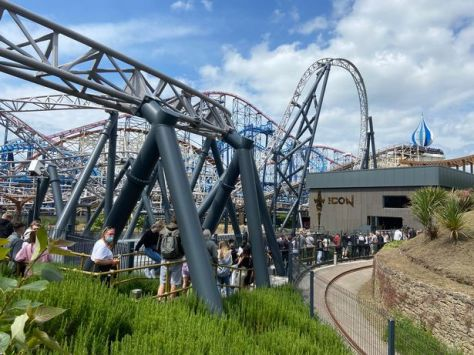 Waiting for Icon at Blackpool Pleasure Beach