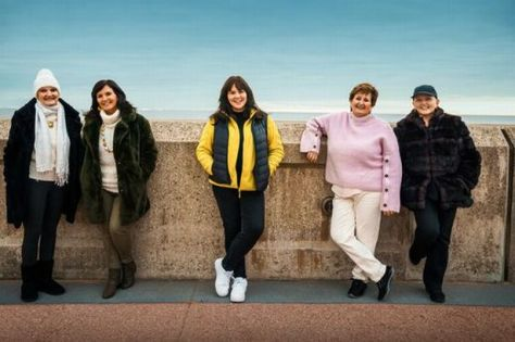 pictured L-R: Anne, Maureen, Coleen, Denise and Linda in At Home With The Nolans