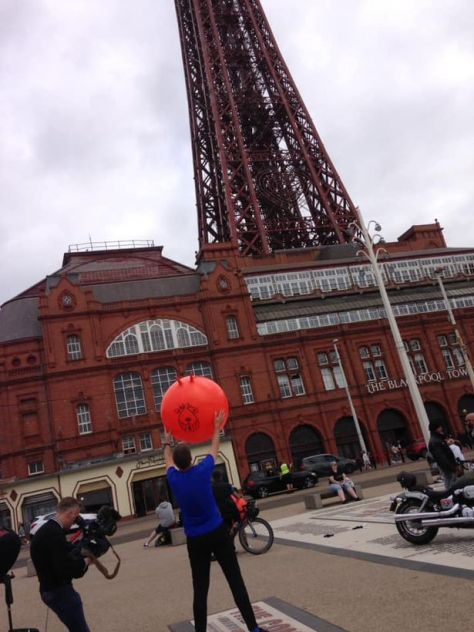 David Kay outside of the Blackpool Tower