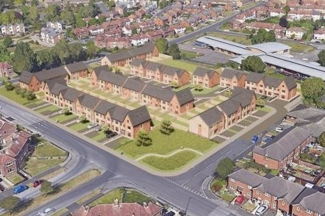Artist's impression of some of the homes proposed for Grange Park
