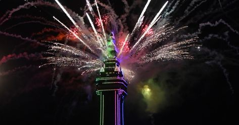 Blackpool Tower comes alive as the illuminations are switched on