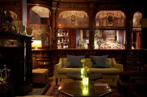 A view of the bar at Storrs Hall Hotel in Cumbria