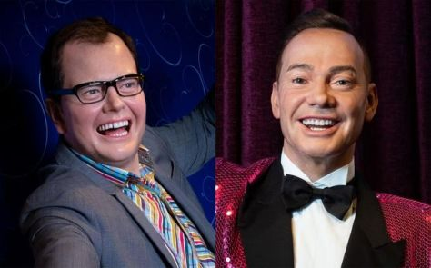 Double take: Alan Carr and Craig Revel Horwood, in waxwork form