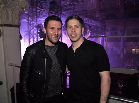 Blackpool bar owner and events organiser Alex Huckerby and with radio 1 DJ Danny Howard