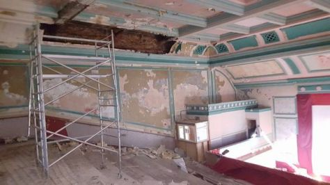 Renovation work carried out in 2016 when the building was reclaimed as an independent cinema
