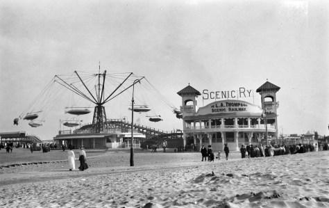 Views across the scenic railway in 1907