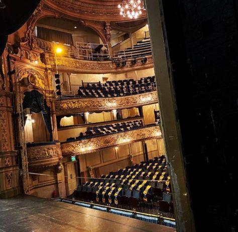 Inside Blackpool Grand Theatre located on Church Street, Blackpool