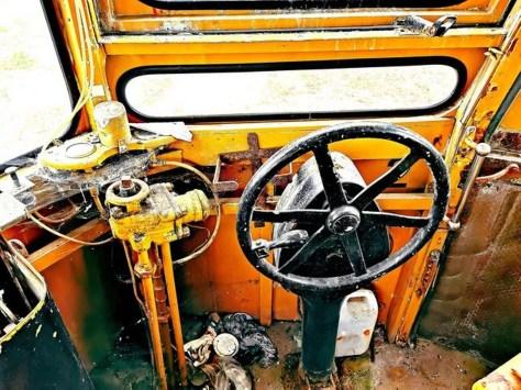 Old vintage steering wheel