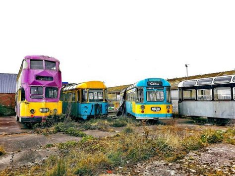 Old Blackpool 'Metro' trams