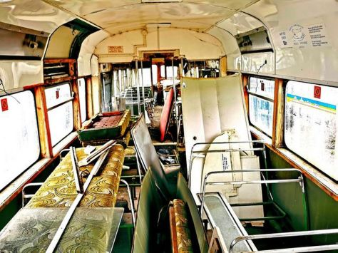 Rotted tram carriage