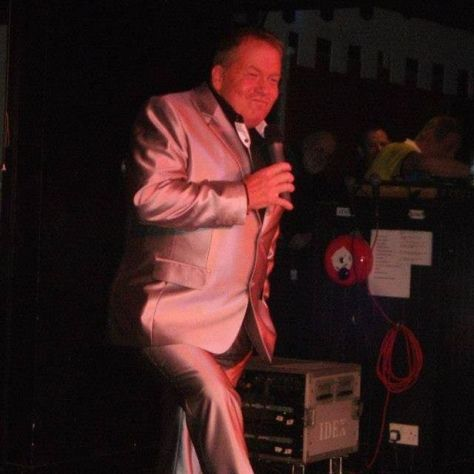 Blackpool comedian Joey Blower on stage