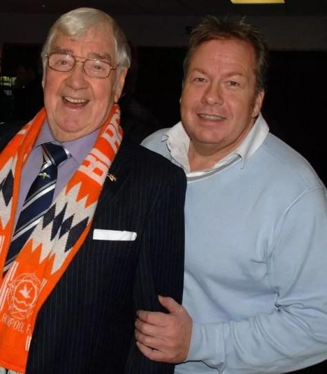 Joey with Irish comedian Frank Carson