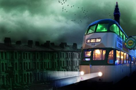 The tram that trundles the tracks on Blackpool's Ghost Hunting Tours