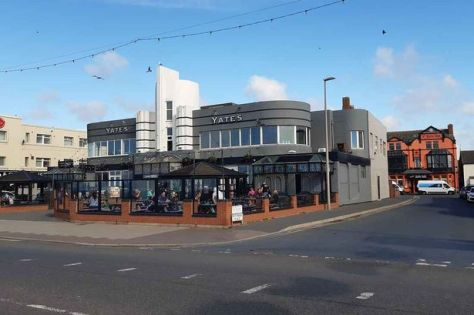 The iconic Yates' Wine Lodge on Blackpool's promenade is now for sale for £900,000