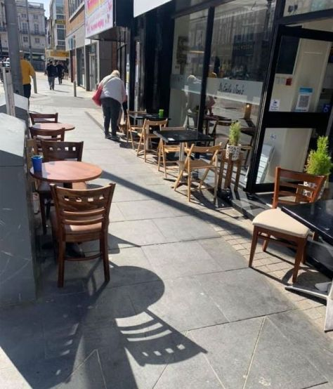 The outdoor seating area of Emily Jane's Cafe and Bistro implemented in April 2021