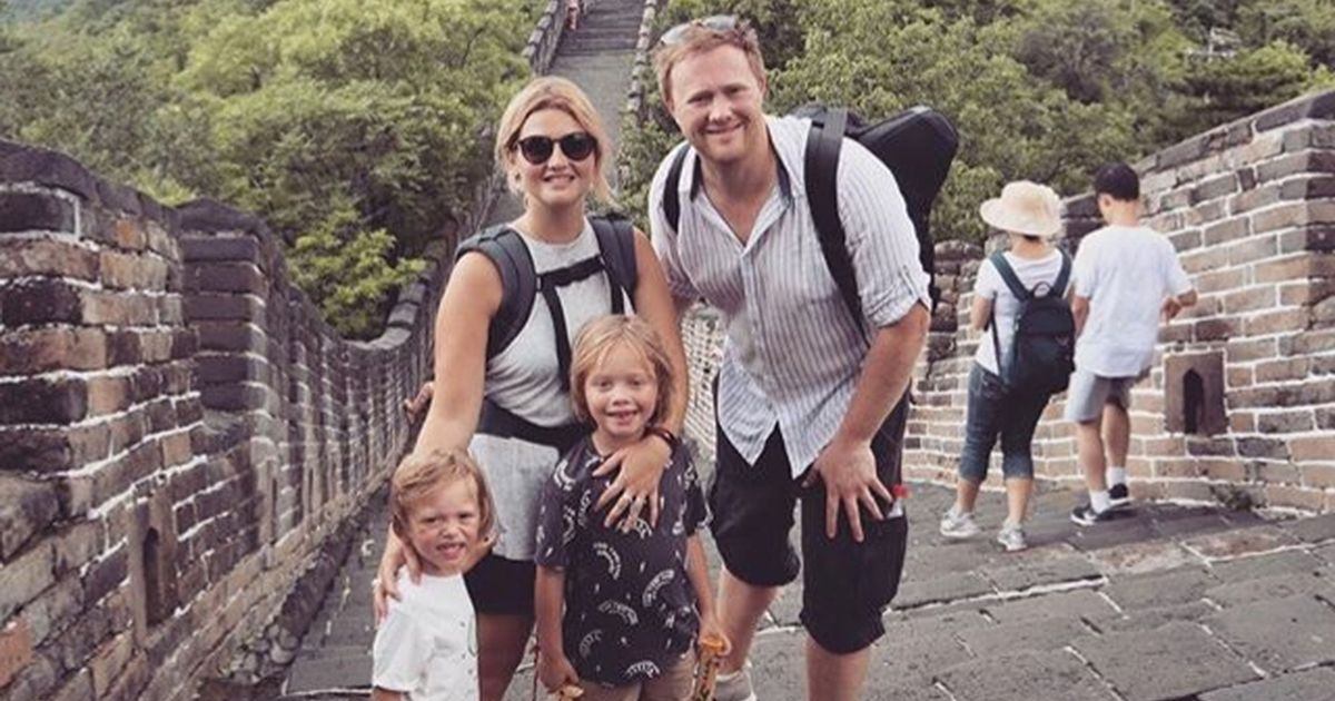 Mum and dad use maternity leave to take children around the world