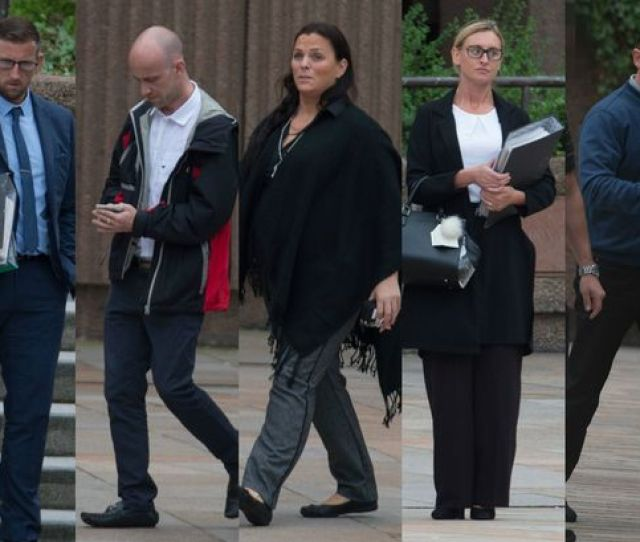 From Left Leon Jackson Karl Jackson Lilly Anne Harrison Andrea Stott And Martin Whiston At Liverpool Crown Court