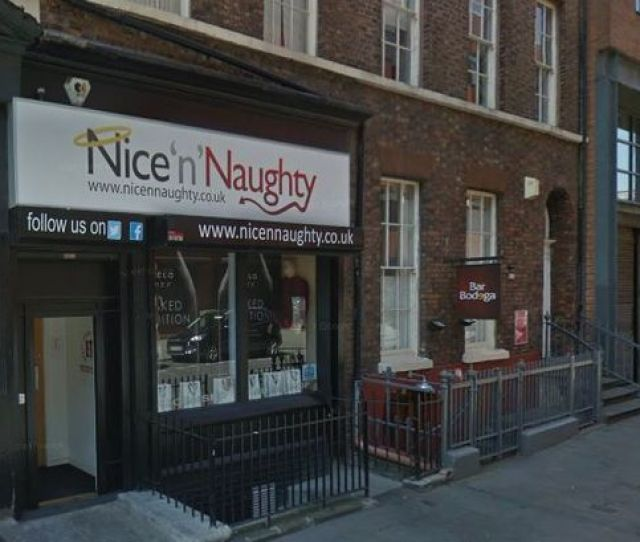 The Nicennaughty Shop In Colquitt Street Liverpool As Seen On
