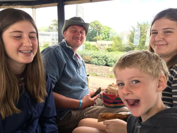 (L-R) Holly, 14, Adam Martin, 41, George, 7 and Megan, 15.