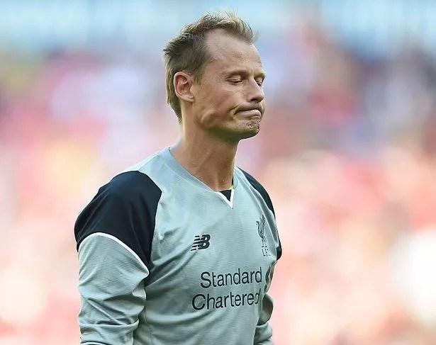 Liverpool's Alex Manninger in defeat