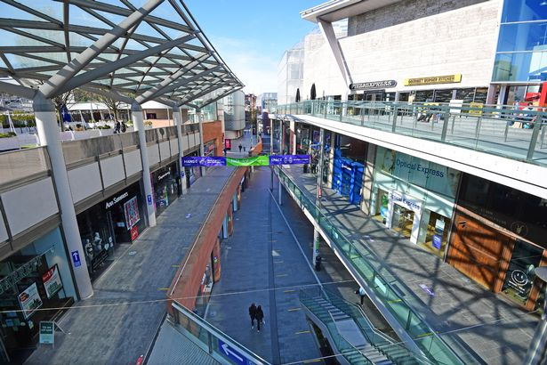 Liverpool ONE on the eve of April 12