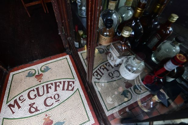 Relics from the company's history on Castle Street are displayed in the window