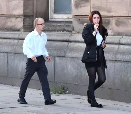 Craig Shingler and Esha Proudlove,outside Wirral Magistrates Court.