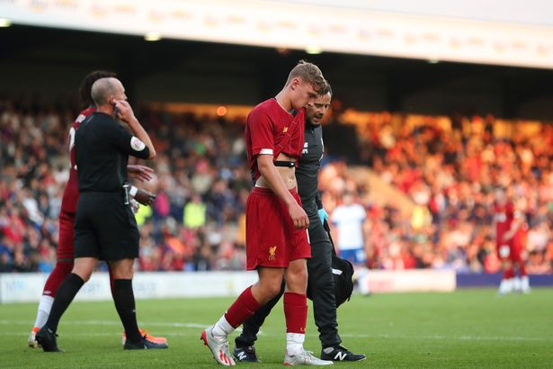 Glatzel suffered an ACL injury against Tranmere while making his first-team bow for Liverpool