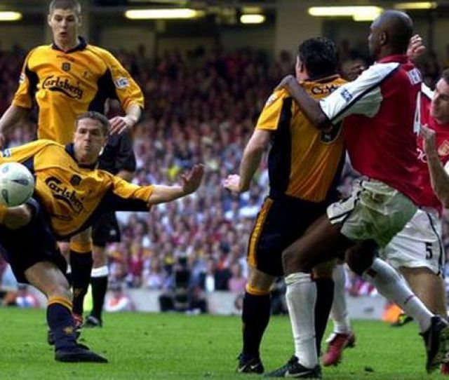 Lfcs Michael Owen Lashes In The Leveller Against Arsenal In The  Fa Cup Win